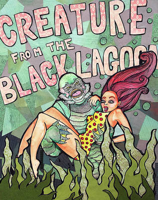 Mixed Media - Creature from the Black Lagoon by Blair Barbour
