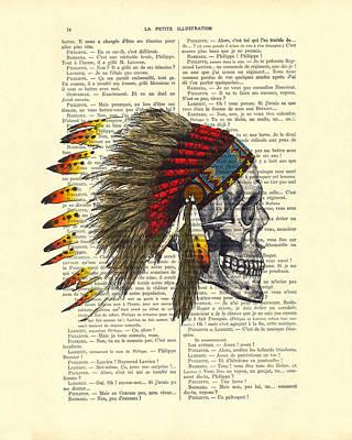 Indian Headdress Digital Art