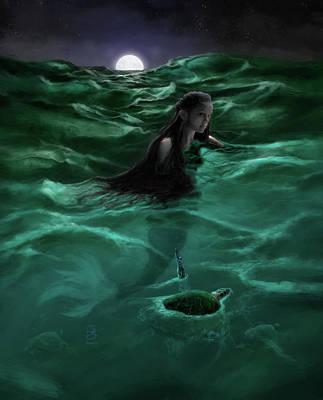 Digital Art - Neptune's Daughter by Jesse Bilyeu