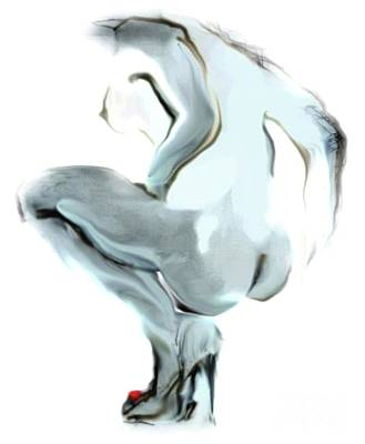 Painting - Sophi Squats by Carolyn Weltman