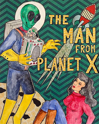 Painting - The Man from Planet X by Blair Barbour