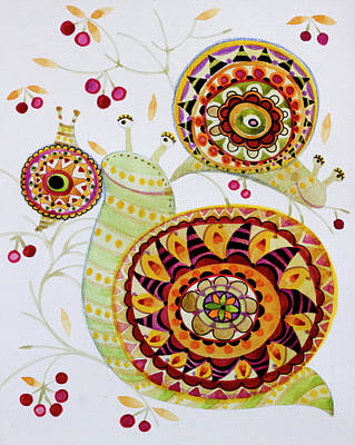 Snail Shell Paintings