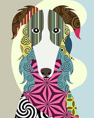 Russian Wolfhound Digital Art
