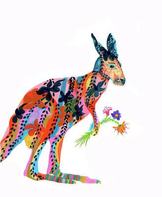 Kangaroo Mixed Media