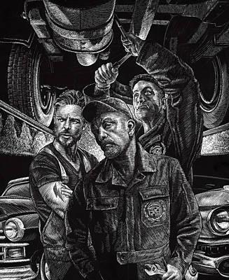 Drawing - Mechanics by Clint Hansen