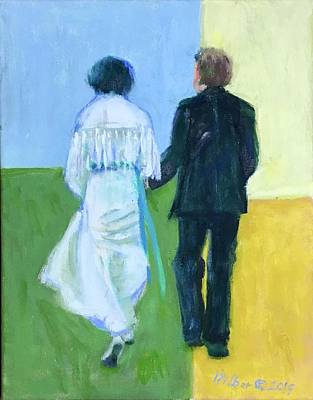 Painting - Returning From Beach Wedding by Bonnie Wilber