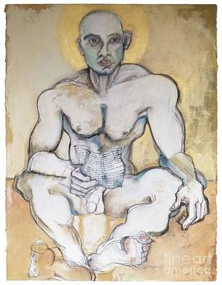 Painting - The Buddhist, The Christ, The Poet by Carolyn Weltman