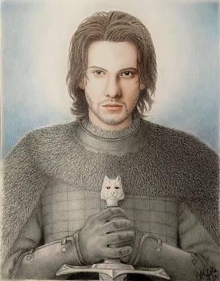 Drawing - Jon Snow by Vanessa Cole