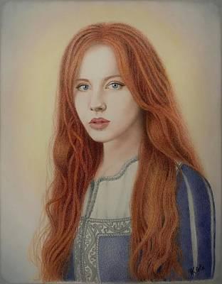 Drawing - Sansa Stark by Vanessa Cole
