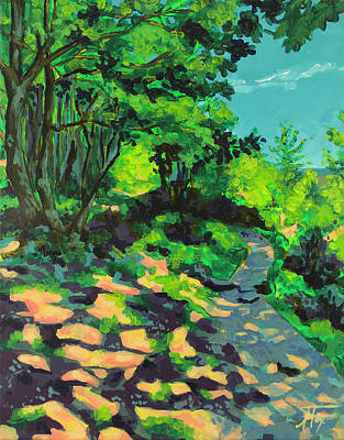 Painting - A Light on my Path by Allison Fox