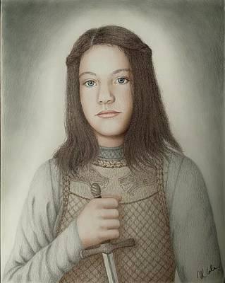 Drawing - Arya Stark by Vanessa Cole