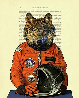 Cosmonaut Mixed Media