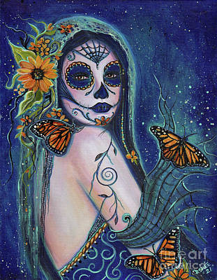 Painting - Breaking free day of the dead by Renee Lavoie