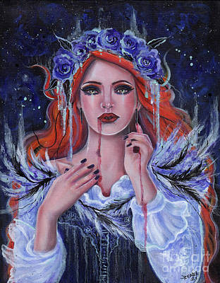 Painting - Make you mine vampire by Renee Lavoie