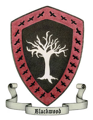 Drawing - House Blackwood Sigil by Vanessa Cole