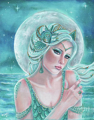 Painting - Luna Goddess by Renee Lavoie