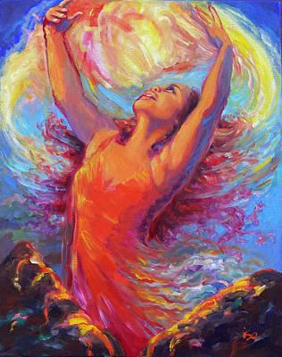 Painting - Pele Ablaze by Isa Maria