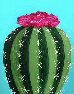 Painting - Pink Cactus by Allison Liffman