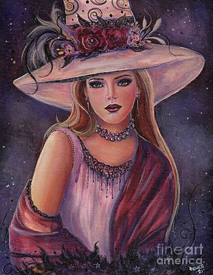 Painting - Rowena Victorian Witch by Renee Lavoie