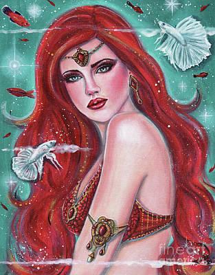 Painting - Ruby Carmina Mermaid by Renee Lavoie