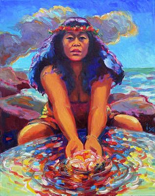Painting - She Who Creates the Islands by Isa Maria