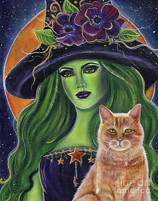 Painting - Wild Magic Witch by Renee Lavoie