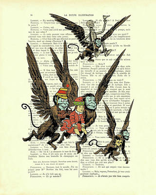 Vintage Style Wizard of Oz Flying Monkey Recipe Cards from Curious London
