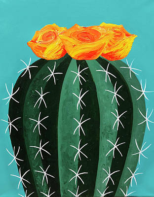 Painting - Yellow Cactus Flower by Allison Liffman