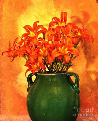 Designs Similar to Green Pottery With Tigerlilies