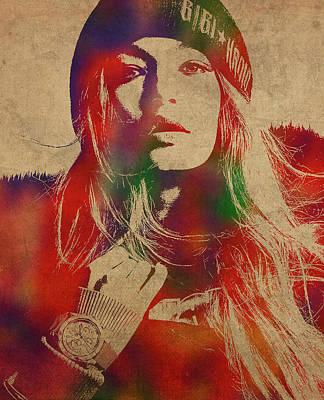 5d91d20bf Gigi Hadid Art | Fine Art America