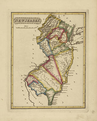 Designs Similar to Antique Map Of New Jersey
