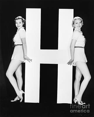 Designs Similar to Women Posing With Huge Letter H