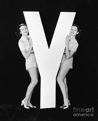 Designs Similar to Women Posing With Huge Letter Y