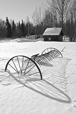 Winterscape Black And White Art