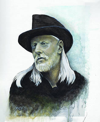 Johnny Winter Paintings Original Artwork