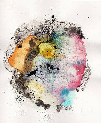 Abstract Ink Paintings in Color