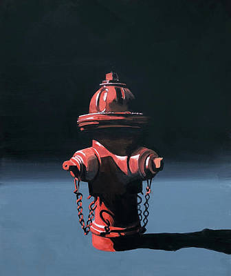 Fire Hydrant Original Artwork