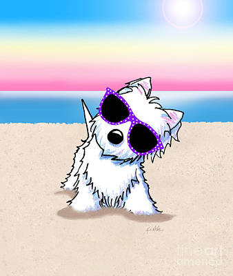 Designs Similar to Kiniart Westie Terrier Beach