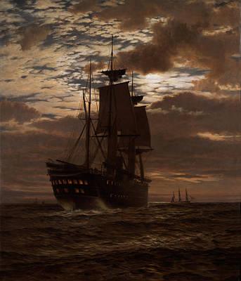 Sailing At Night Paintings