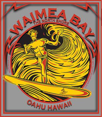 Designs Similar to Waimea Bay Oahu Hawaii Surfing