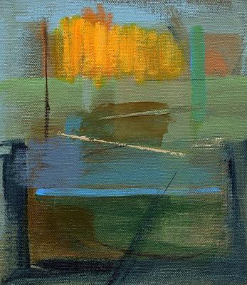 Green Modern Paintings Prints