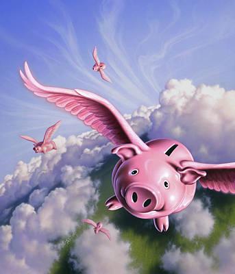 Flying Pig Paintings