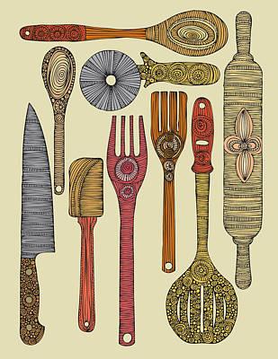Kitchen Utensils Art