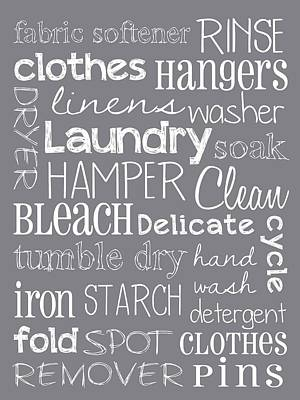 Laundry Room Signs Wall Art