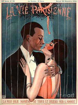 Romantic French Magazine Covers Wall Art