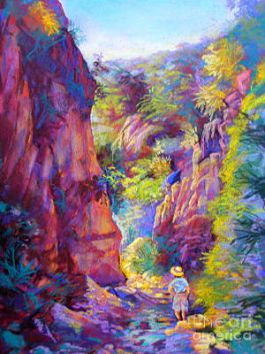 Pastel - Andalucia Gorge by Heather Harman
