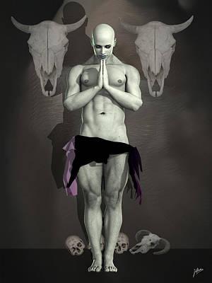 Digital Art - Dark Priest  by Quim Abella
