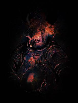Astronaut Mixed Media