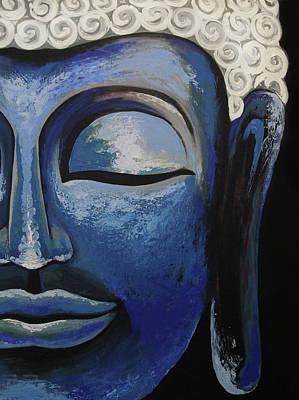 Painting - Blue Buddha by Allison Liffman