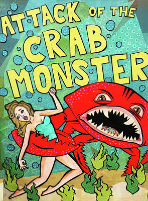 Mixed Media - Attack of the Crab Monster by Blair Barbour